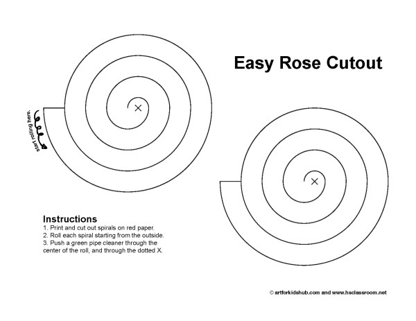 Paper Rose Cutout