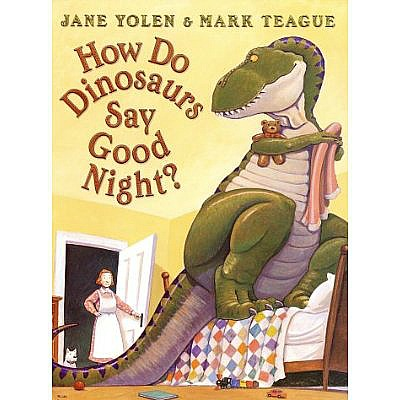 How do dinosaurs say goodnight? book
