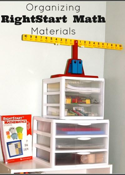 Organizing RightStart Math Materials