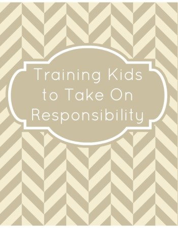 Training Kids to Take On Responsibility