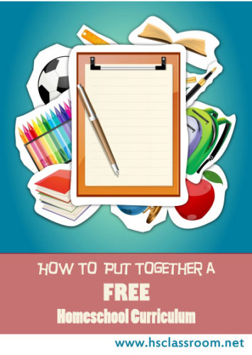 how to put together a free homeschool curriculum
