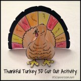 3D Thankful Turkey Project for Kids