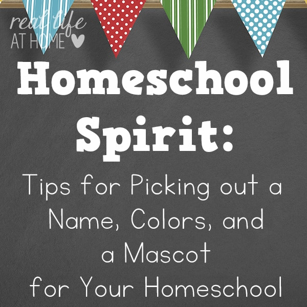 How to Choose a Homeschool Name, Colors, and Mascot (and Why You Should)