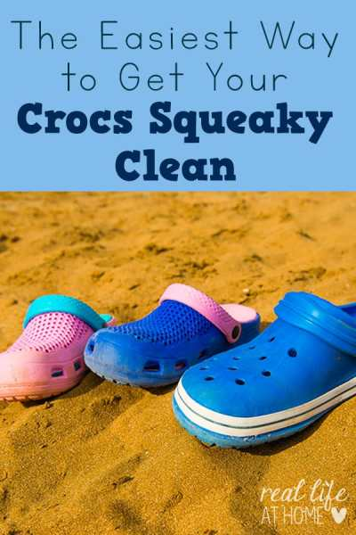 Crocs can get dirty and gross! Here are tips for getting your Crocs squeaky clean.