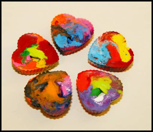 Easy and Fun Family Art Project: Recycling Old Crayons to Create New Rainbow Crayons