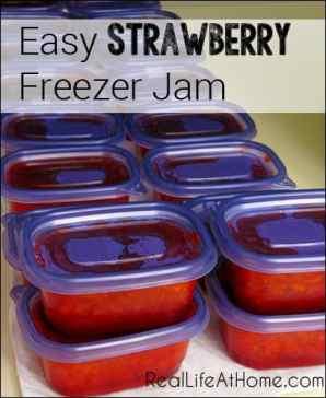 Easy Strawberry Freezer Jam | RealLifeAtHome.com