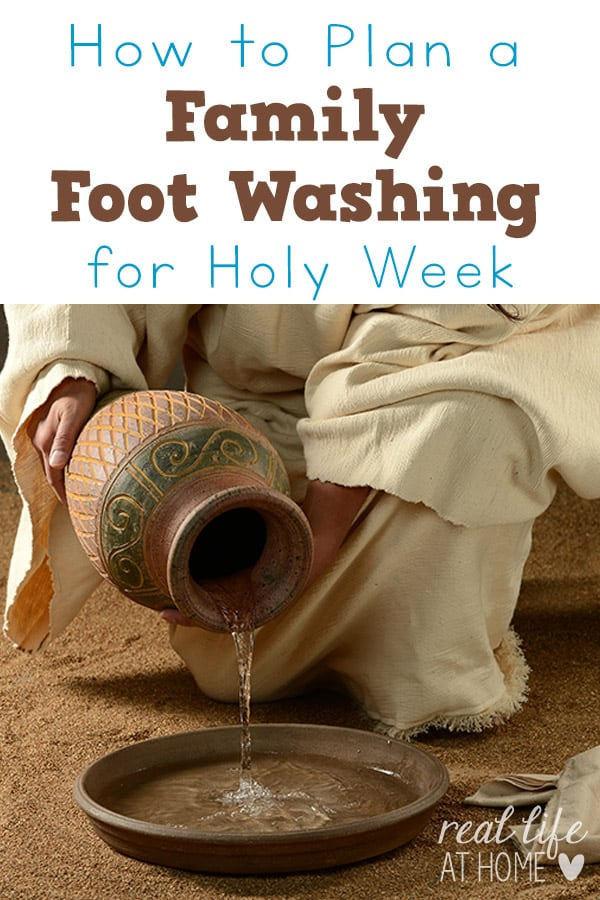 Going out to snag art supplies migh. How To Plan A Family Foot Washing For Holy Thursday