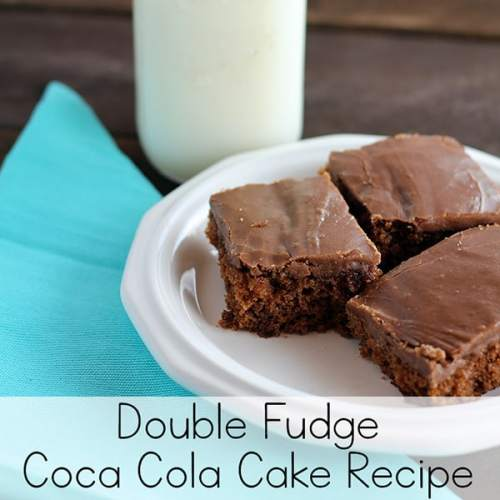 Looking for a rich and delicious chocolate cake to feed a crowd? This wonderful Double Fudge Coca Cola Cake just might be the perfect fit! This chocolate sheet cake is easy to make and is sure to be a hit for dessert! | Real Life at Home