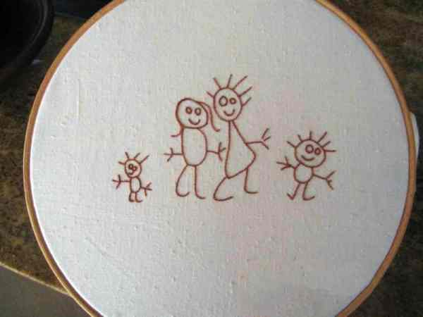 You can turn a drawing into embroidery (after picture)