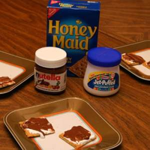 easy indoor s'mores with Nutella
