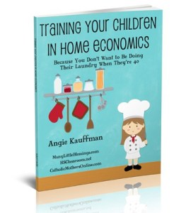 Training Your Children in Home Economics - Working on Life Skills for Kids