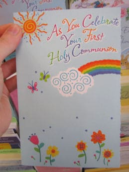 Cheerful First Communion Card