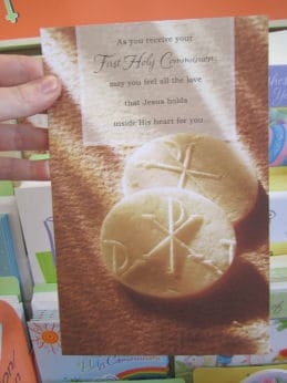 First Communion Card for Adult