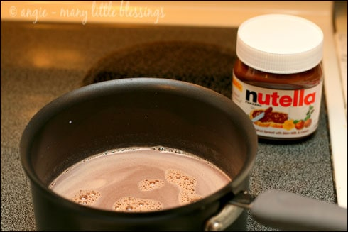 Nutella Hot Chocolate on the Stove Top