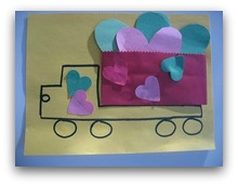 love dump truck craft
