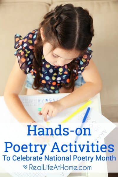 A great selection of hands-on poetry activities for children (and adults!)