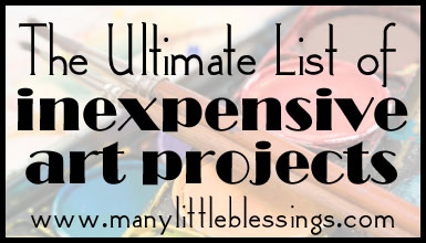 Ultimate List of Inexpensive Art Projects