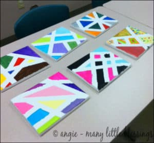painters tape canvases