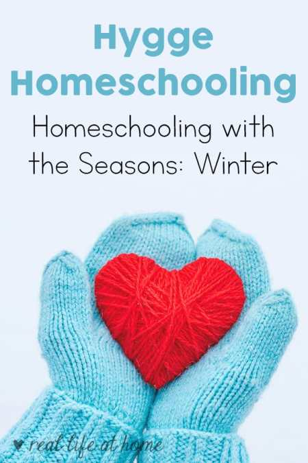 When homeschooling with the seasons, the cold, dark months of winter are a perfect time to spend a little more time indoors, take it easy, work on projects, and set goals for the rest of the year. Read more ideas for hygge homeschooling during the winter. #hygge #homeschooling #winterhomeschooling