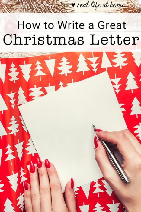 Need ideas for how to write a Christmas letter? Here are nine simple steps for writing a great Christmas letter this year! | Real Life at Home