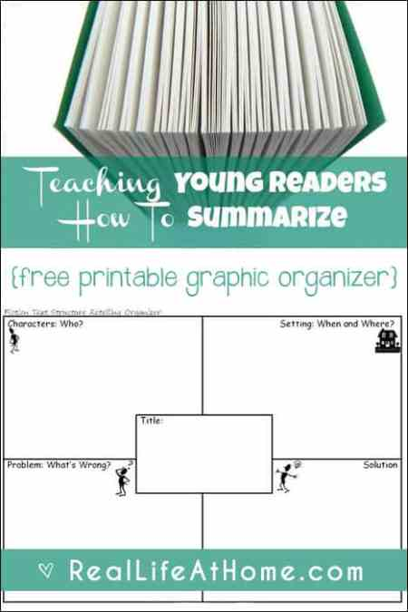 Teaching Young Readers How To Summarize Plus Free Graphic