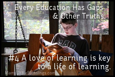 a love of learning is key to a life of learning