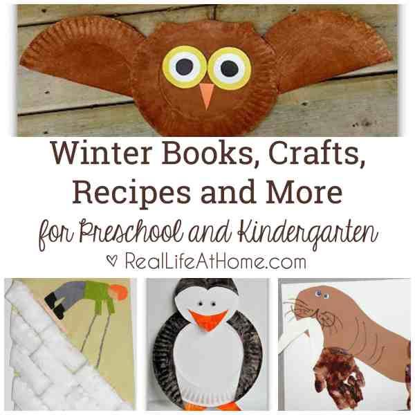 winter books, crafts, recipes, activities, and more for preschool and kindergarten #WinterBooks #WinterCrafts