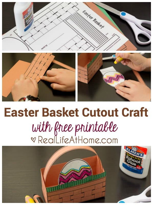 Easy Easter Basket Craft for Kids (Free Printable Cutout Template)