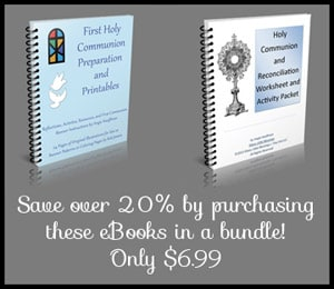 First Communion and Reconciliation eBook and Worksheet Packet Bundle