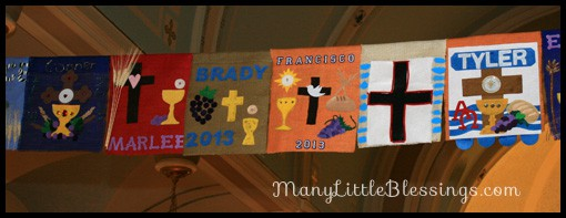 First Holy Communion Banner Examples