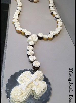 rosary cupcakes