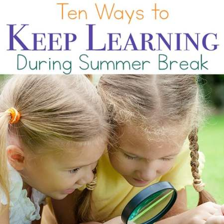 Looking for summer learning activities? Here are 10 ideas for fun supplemental learning ideas to keep kids actively engaged during the summer months.