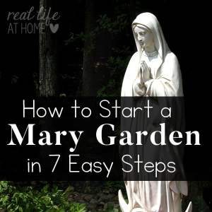 Tips and resources to help you create your own Mary Garden at home or at your parish.   Real Life at Home