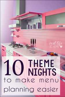Are you in a menu planning rut? Here are 10+ theme night ideas to help make your menu planning easier and less stressful | Real Life at Home