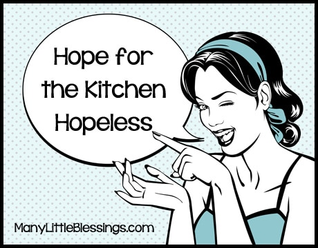10 Days of Hope for the Kitchen Hopeless {Plus a Common Kitchen Conversions Chart Download}