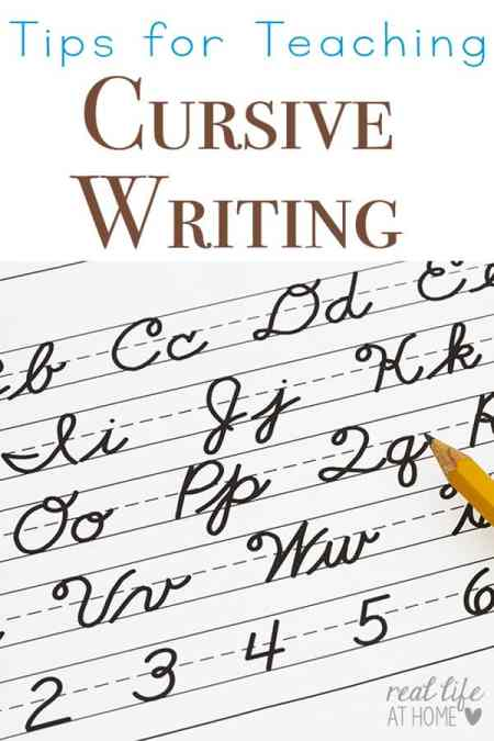 Tips for Teaching Cursive Writing {as well as why it's a great idea to teach cursive writing first} | Real Life at Home