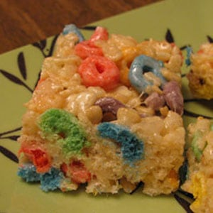 Fruit Loop Rice Krispie Treats