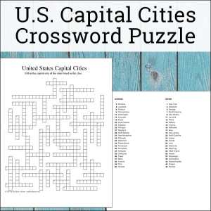 Free U.S. State Capitals Crossword puzzle with all 50 state capitals. The state capitals crossword puzzle can be used for practice, review, homework, or even as a state capitals quiz or test.