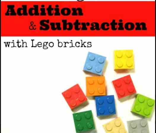 Double Digit Addition and Subtraction {with Lego Bricks}