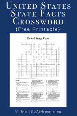 Studying United States geography and state facts? You'll love this free U.S. State Facts Crossword Puzzle Printable! | state facts | state crossword | United States crossword puzzle