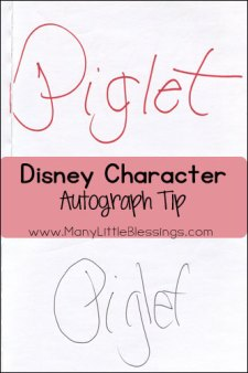 disney character autograph tip