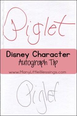 disney character autograph tip