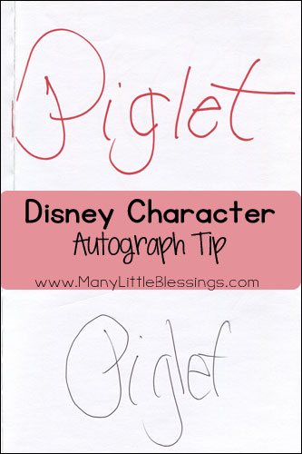 Heading to Disney World or Disneyland? I am sharing my favorite Disney character autograph tip that you won't want to miss!