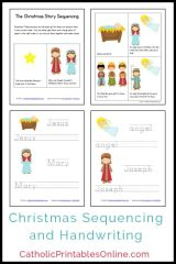 Free Christmas Mini Book and Handwriting Printables Packet