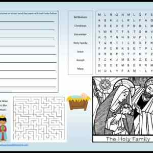 Christmas activity placemat printable