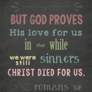 Christ Died for Us Art Print Printable