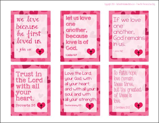 Printable Religious Valentine Cards For Kids