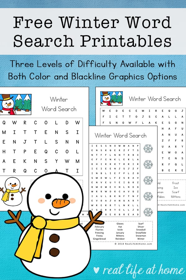 graphic regarding Winter Word Search Printable named No cost Wintertime Term Look Printable for Young children (with 3