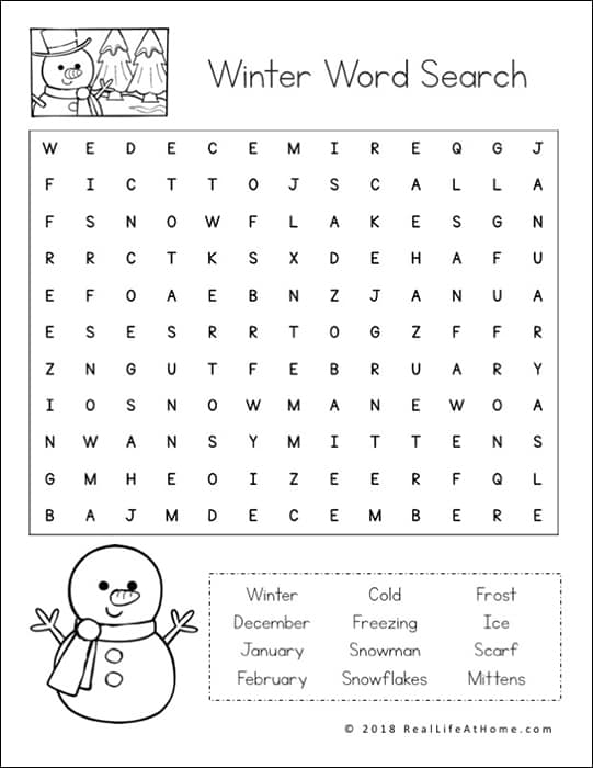 graphic regarding Word Finds Printable identified as No cost Wintertime Phrase Seem Printable for Children (with 3