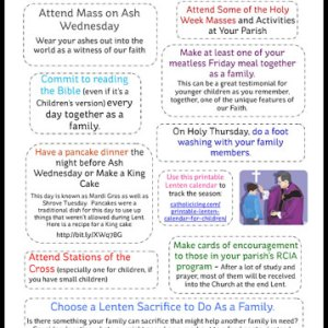 Lent and Holy Week Activities for Catholic Families